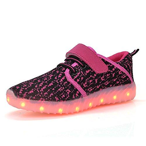 DEDU LED Light up Shoes for Kids Boys Girls Flashing Sneakers