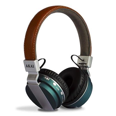 Akai BTH08 - Auriculares de Diadema con Bluetooth, Color Azul