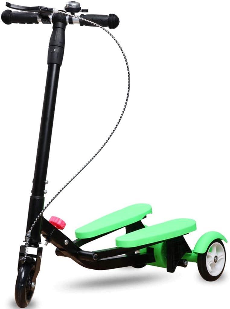 男性と女性のスクーターのための子供の自転車のスクーター3-5-6-15歳の赤ちゃん三輪はさみ (色 : 緑) 緑