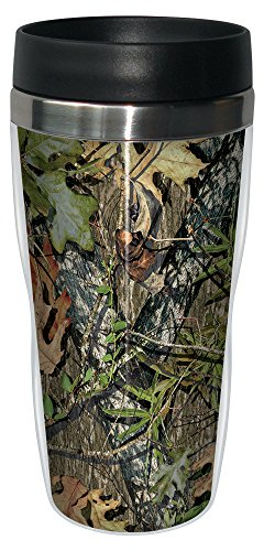 Obsession by Mossy Oak Camo Travel Mug, Stainless Lined Coffee Tumbler, 16-Ounce - Hunting Gifts for Hunters - Tree-Free Greetings 77617