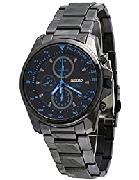 Seiko Chronograph Black Dial Black PVD Stainless Steel Mens Watch SNDD67P1