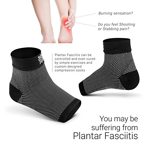 Bitly FBA_PFB_S_1101 Plantar Fasciitis Socks (1 Pair) Premium Ankle Support Foot Compression Sleeve (Small) by Bitly (Image #3)