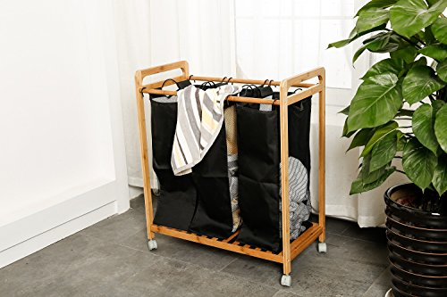 Zhuyue Laundry Hamper Sorter Organizer With 3 Removable