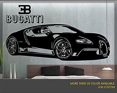"Bugatti Veyron Super Sport Car Wall Decal / 62"" X 22"""