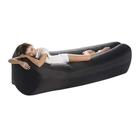 Portable Inflatable Lounger Sofa With Headrest   Premium Banana Hammock  Couch For Camping, Hiking,