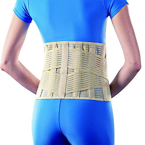 (Sacro Lumbar Support with Criss-Cross Straps and Splints (H12 inches; XL))