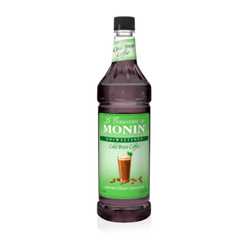 Monins Cold Brew Coffee Concentrate - New & Improved Version - 1 Liter by Monin