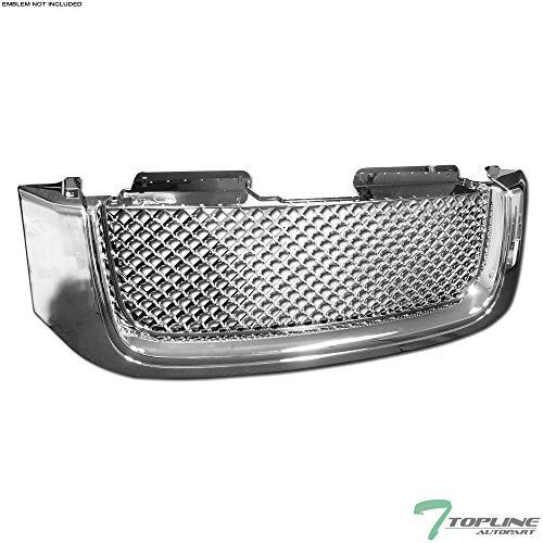 Topline Autopart Badgelss Sport Chrome Mesh Front Hood Bumper Grill Grille ABS For 02-08 GMC Envoy