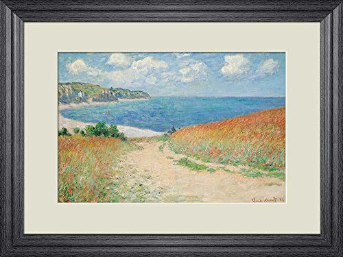 Creative 3D Visual Effect Wall Mural Path in The Wheat at Pourville by Claude Monet Peel Stick Wall Decor