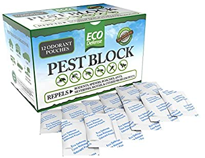 Eco Defense Pest Control Pouches - All Natural - Repels Rodents, Spiders, Roaches, Ants, Moths & Other Pests - Best Mouse Trap Alternative