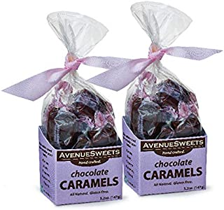 product image for AvenueSweets - Handcrafted Individually Wrapped Soft Caramels - 2 x 5.2 oz Boxes (Chocolate)