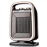 Ceramic heater, Thermostat Remote control Bathroom Power saving Energy saving office Mini Electric heating device Tabletop Under-Desk -A