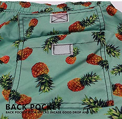 AceAcr Mens Swim Trunks Printed Quick Dry Swimming Board Shorts with Mesh Lining