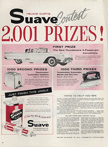 helene-curtis-suave-shampoo-ford-thunderbird-contest-ad-1958-l