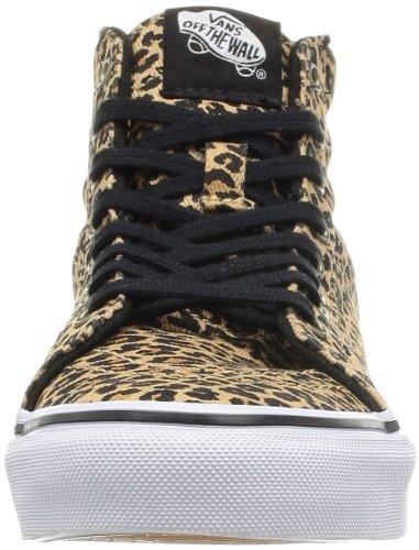 Scarpe Da Skate Donna Vans Sk8 Hi Slim (leopard) A Spina Di Pesce 9.5