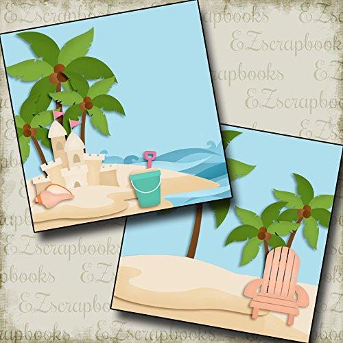 (SAND CASTLES Non-Photo-Mat - Premade Scrapbook Pages - EZ Layout 2695)