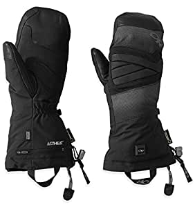 Outdoor Research Lucent Heated Mitts, Black, X-Small