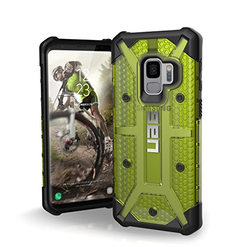 URBAN ARMOR GEAR UAG Designed for Samsung Galaxy S9 [5.8-inch Screen] Plasma Feather-Light Rugged [Citron] Military Drop Tested Phone Case
