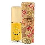 Sage Topaz Roll-on Perfume Oil - Unique Luxury Gift Box - Natural Beauty - Niche - Travel - Aromatherapy - Subtle - Vanilla - Mango - Papya - Rosewood - Amber - Sandalwood - Musk by Sage Machado