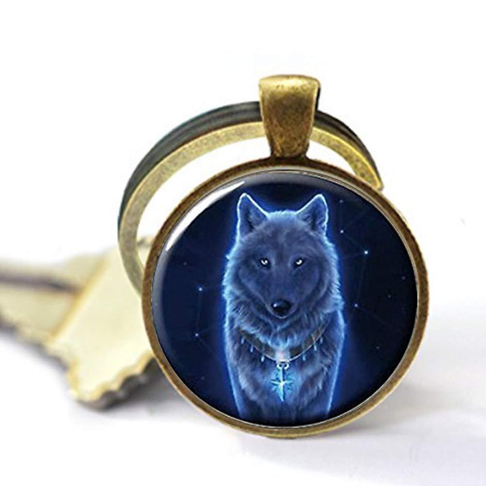 Ghost Wolf Keychain, Wolf, Picture Keychain,Wolf Keychain wuqidashi