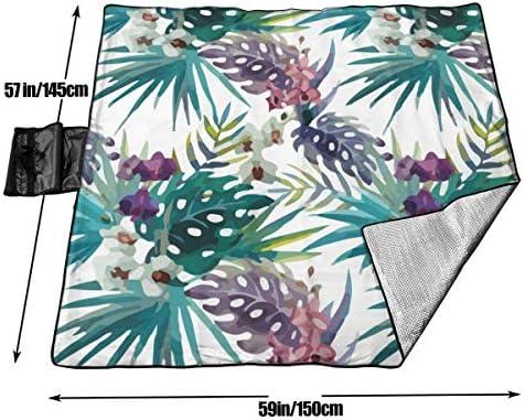 XFF Coperte da Picnic Tappetino da Picnic Coperta da Spiaggia Materassino Portatile, Pieghevole Impermeabile Stuoia di Picnic di Grandi Dimensioni (1,5 M * 1.45m)