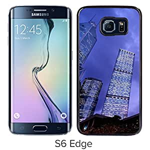 New Beautiful Custom Designed Cover Case For Samsung Galaxy S6 Edge With Steel And Glass Phone Case