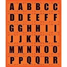 K&Company Orange Contemporary Alphabet Die-cut Stickers