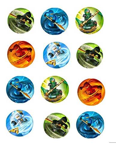 12 Stück Muffinaufleger Muffinfoto Aufleger Foto Ninjago (35) rund ca. 5 cm *NEU*OVP*