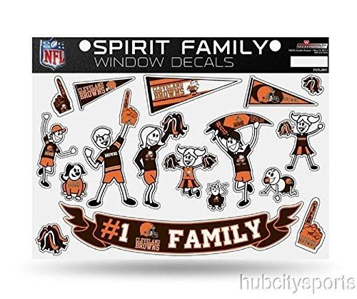 NFL Cleveland Browns Spirit Family Decal Sheet, 8.5 x 11-inches (Browns Family Decal compare prices)