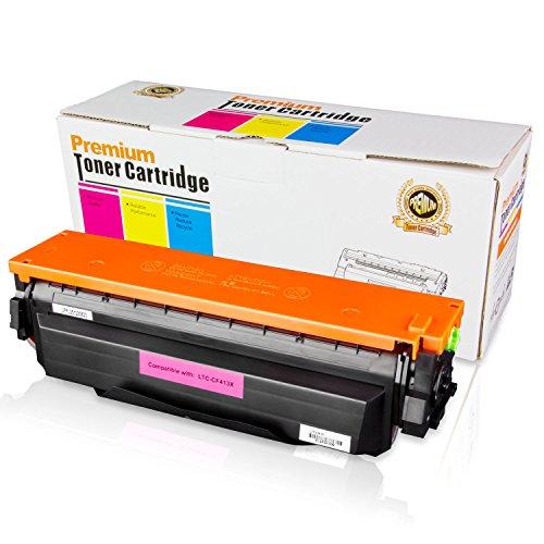 001 Laser Cartridge - 1PK of ALLINKTONER HP Compatible Extra High Yield 410X CF413X Magenta LaserJet Toner Cartridge for HP Color LaserJet M377dw M477fdw M477fnw LaserJet Pro M452dn M452dw M452nw Laser Printers