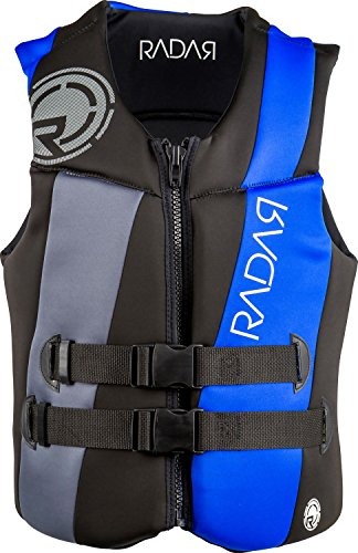 Radar Encore Front Zip CGA Life Vest - Men's Size (XL) - Black/Silver/Blue (Blue Industry Textile Jacket)