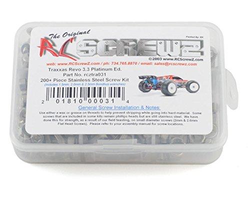 RC Screwz Traxxas Revo Platinum Edition Stainless Steel Screw Kit - Kit Platinum Edition