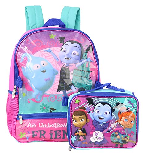Disney Vampirina School Book Backpack With Lunch Box SET