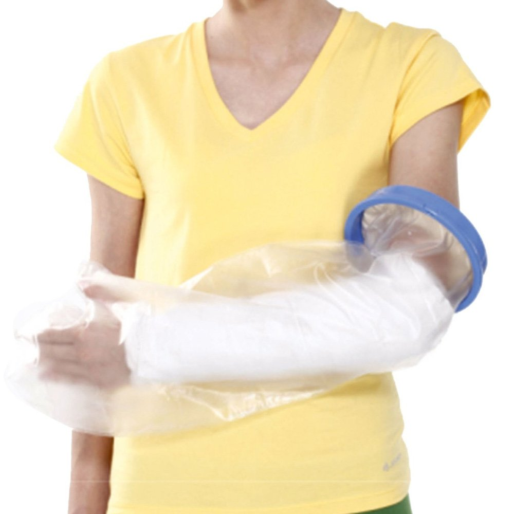 Easy Self-wear, Reusable Arm Cast Cover | Light & Travel-friendly | Keeps Cast and Bandage Waterproof