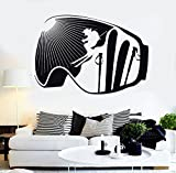 ski height chart - BorisMotley Wall Decal Extreme Ski Winter Sport Vinyl Removable Mural Art Decoration Stickers for Home Bedroom Nursery Living Room Kitchen