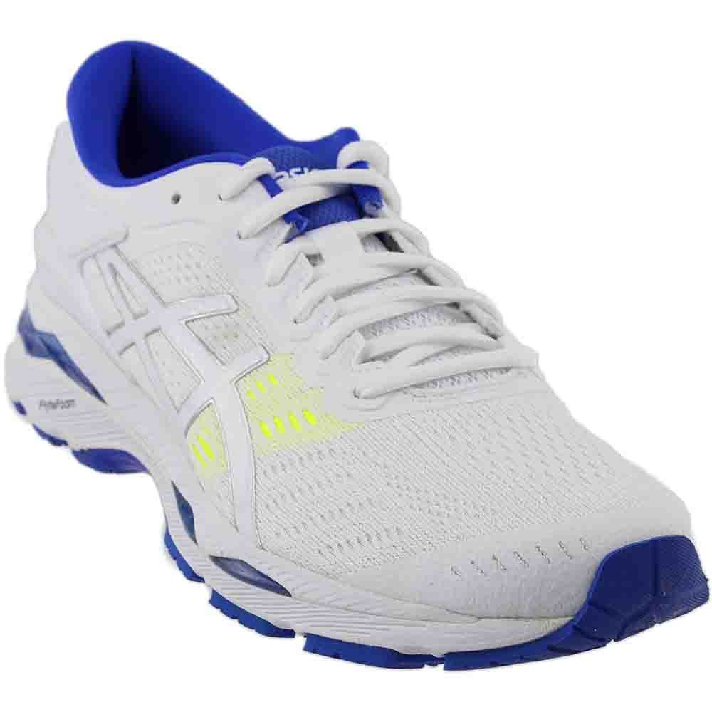 ASICS Women's Gel-Kayano 24 Running Shoe B01N8P5U72 6 B(M) US|White/Blue Purple/Safety Yellow