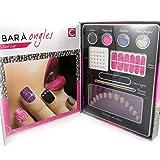 Les Trésors De Lily [L8989] - Nail bar cabinet 'Festiv'ongles' pink purple silver.