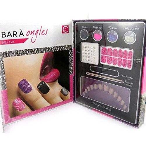 Les Trésors De Lily [L8989] - Nail bar cabinet 'Festiv'ongles' pink purple silver. by Unknown
