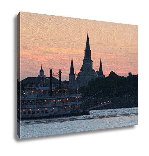 Ashley Canvas, New Orleans Paddlewheel And Cathedral, 24x30