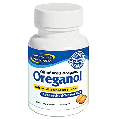 North American Herb and Spice Natural Oreganol Dietary Supplement Capsules, 60 count