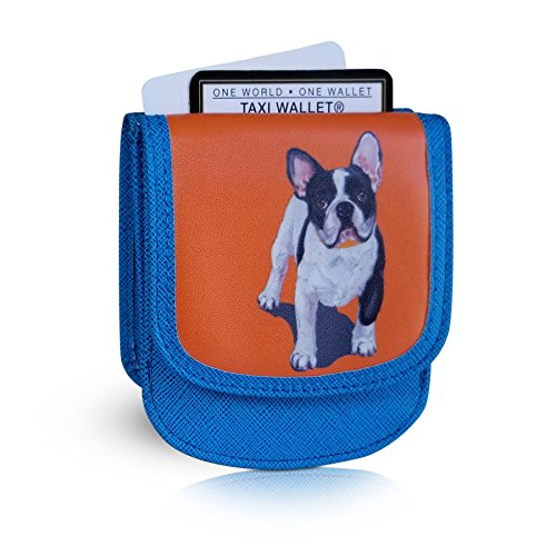 TAXI WALLET French Bulldog Small VEGAN Folding Minimalist Card Wallet for Women Coin Purse