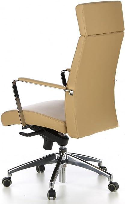 direction Barolo hjh Office 600220 bureau de type de Siège VeauMarron CuirNappa clair fauteuil 20 HDEI29YW