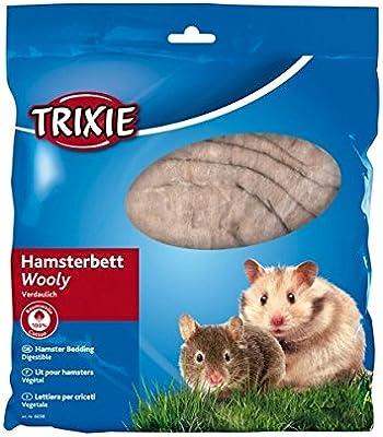 Trixie Wooly Hamster cama, 100 g Hamster cama de algodón fibras Completo verdaulich NIST material para pequeño, adolescente como hámster y ratones – Marrón – 3 Pack: Amazon.es: Productos para mascotas