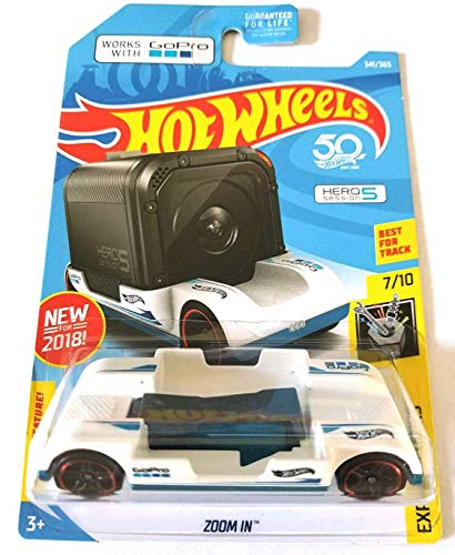 Hot Wheels 2018 Experimotors Zoom In 341/365, White (Hot Wheels Camera Car)