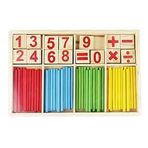 Juguetes Juegos Educativos Matemáticas Palos Madera Contar