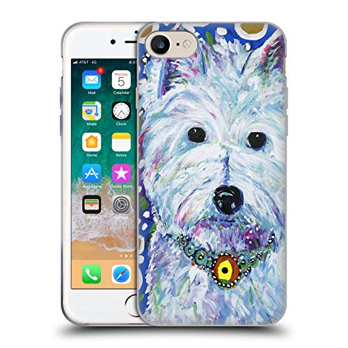 - Official Mad Dog Art Gallery Westie Dogs Soft Gel Case for iPhone 7 / iPhone 8