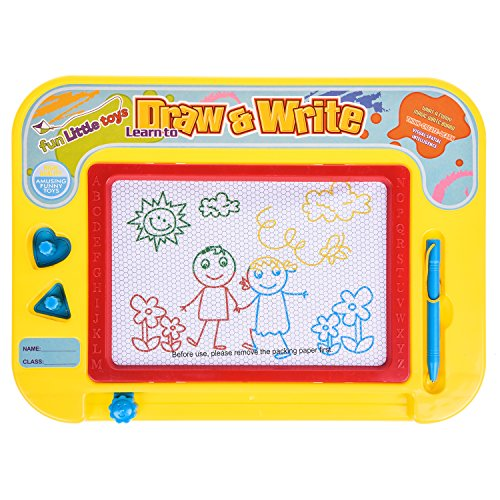 Magna Doodle Magnetic Sketching Board 4 Color Zones Erasable Drawing Writing Pad Back to School Stationery Educational Toy for Children, Toddlers, Babies - Includes a Stylus Pen and 2 (Halloween Writing Activities)