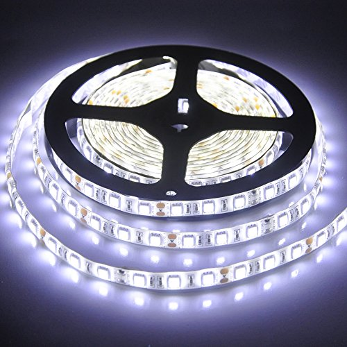 New-Look 16.4 Feet 5M SMD5050 LED Strip Lights 300Leds,Waterproof, Cool White,12V,2-Year Warranty