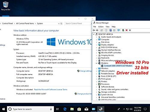 USB 56K External Dial Up Voice Fax Data Modem Windows 10/8/7/XP