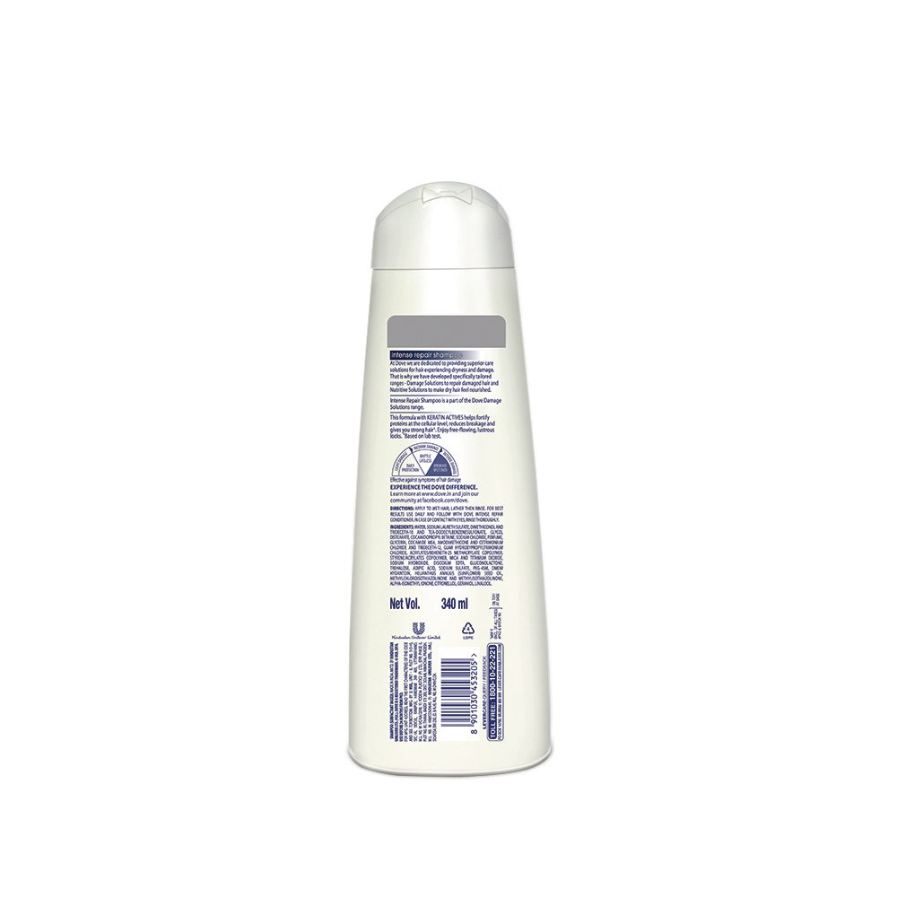 Buy Dove Intense Repair Shampoo 340ml Online At Low Prices In India Sunsilk Damage Treatment 170ml